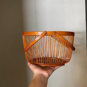 Handmade vintage basket